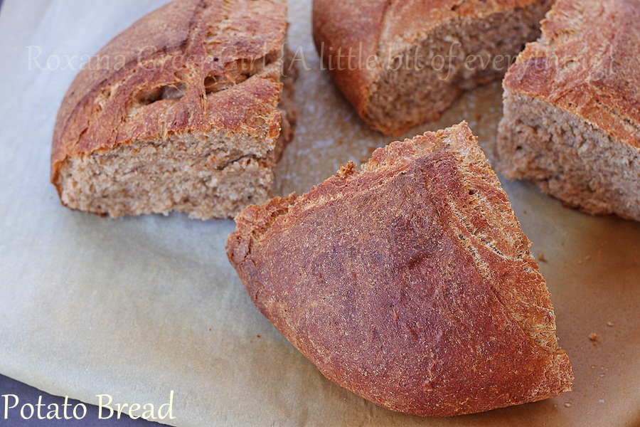 Whole Wheat Potato Bread | roxanashomebaking.com