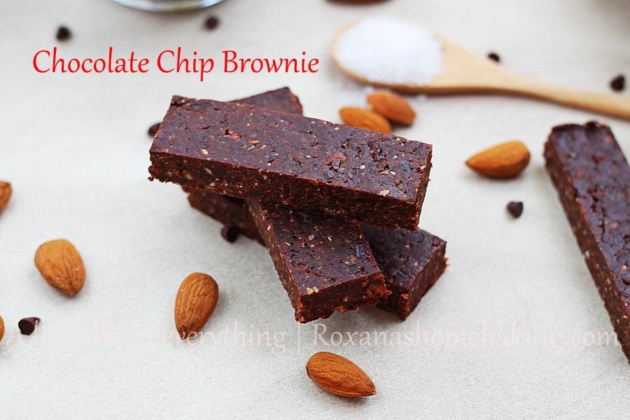 Chocolate chip brownie bars recipe