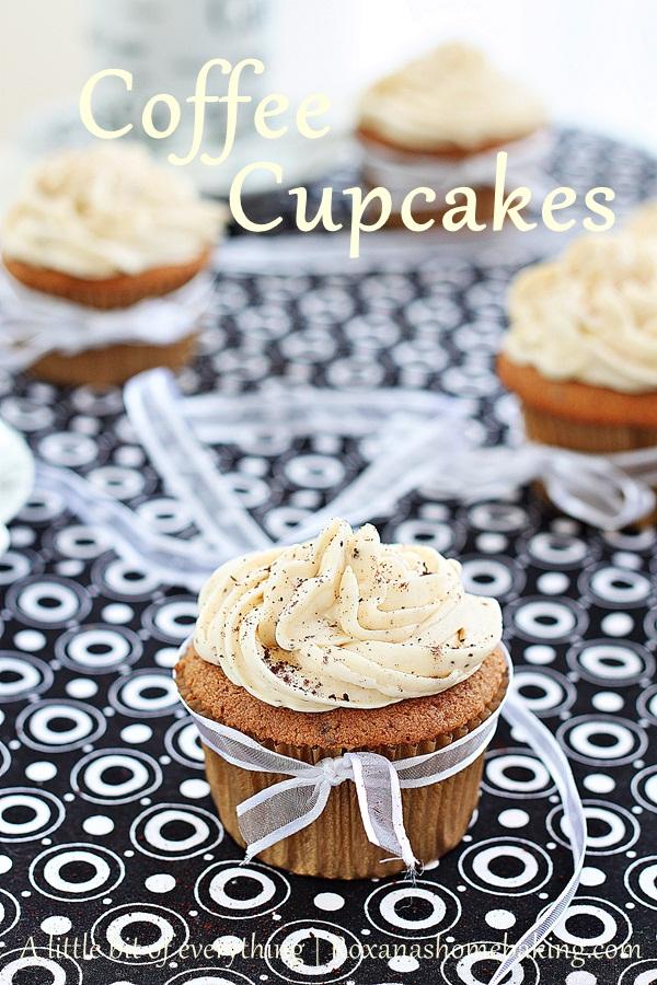 Cofee cupcakes | roxanashomebaking.com/
