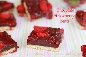 Chocolate Strawberry Bars | roxanashomebaking.com