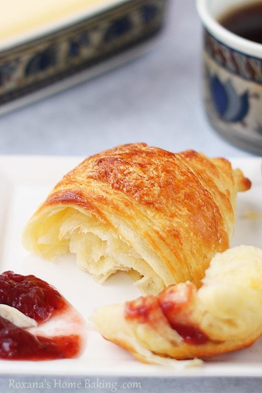 Homemade croissants roxanashomebaking.com