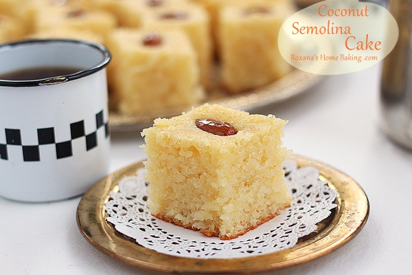Semolina coconut cake a treats affair forumfinder Gallery