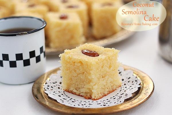 Semolina coconut cake a treats affair forumfinder Choice Image