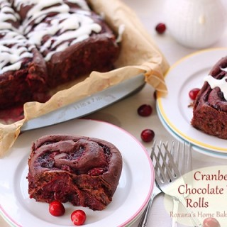 Cranberry Chocolate Brioche Rolls