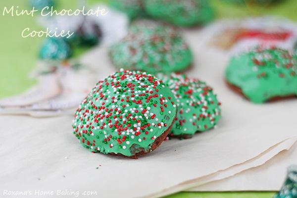 Mint truffle kisses chocolate cookies - a trEATs affair