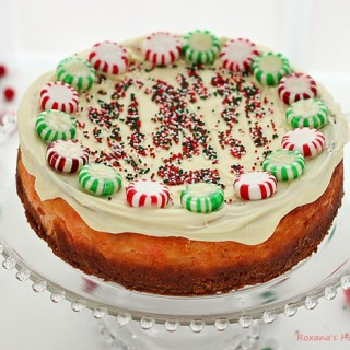 peppermint christmas candy cheesecake recipe roxanashomebaking 1