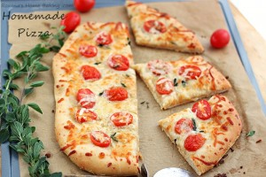 cheese pizza with homemade pizza dough 2