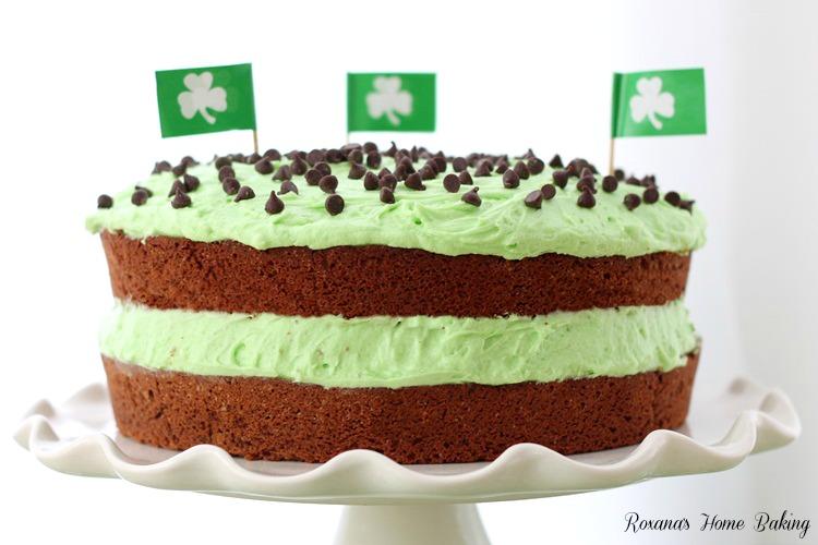 Chocolate cake peppermint icing recipe