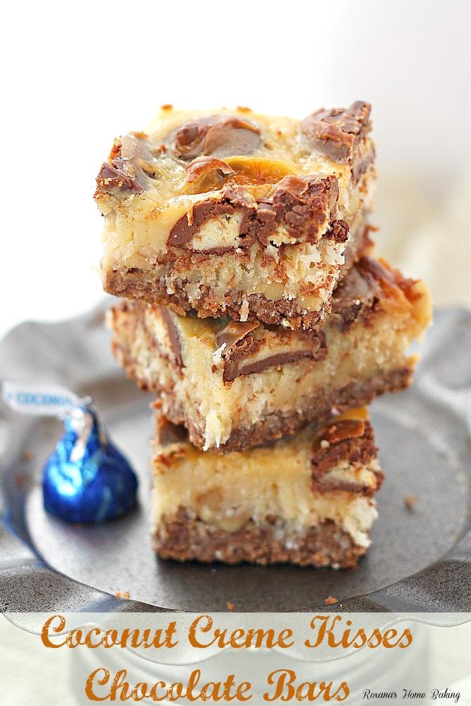 coconut creme kisses chocolate bars recipe 3
