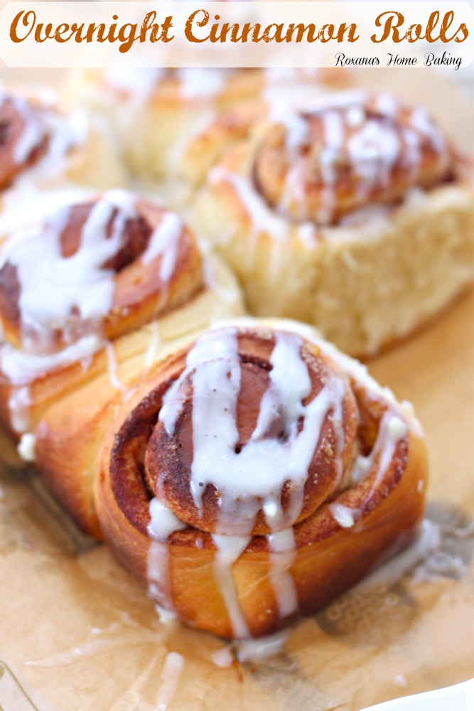 ... swirls of brown sugar and cinnamon and topped with cream cheese icing