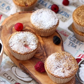 Summer berry oatmeal muffins