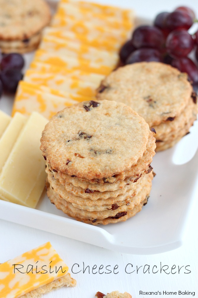 A sweet and salty cracker, with crispy edges and chewy center, great for cheese platters or cheese balls. Recipe from Roxanashomebaking.com