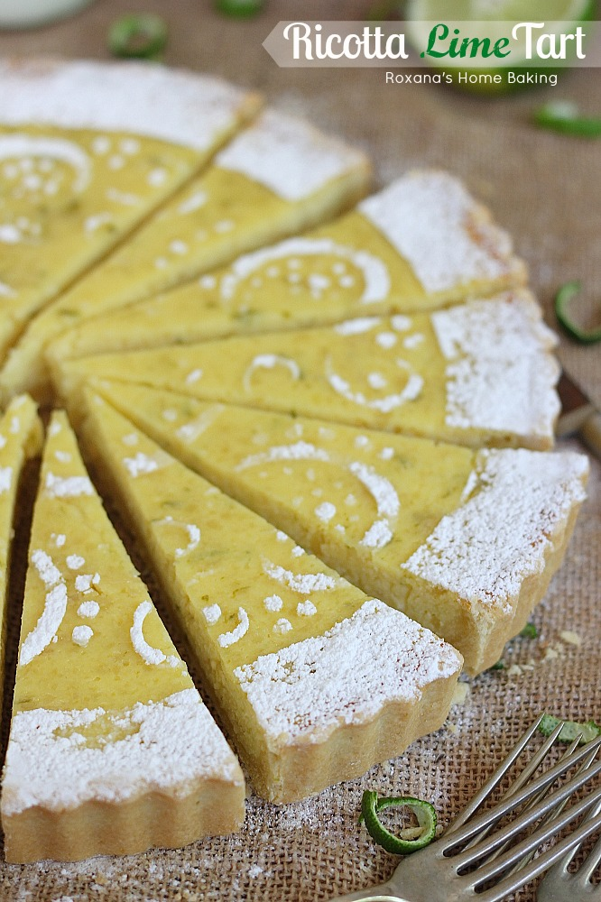 ricotta meets crunchy almonds and refreshing lime in this light tart ...
