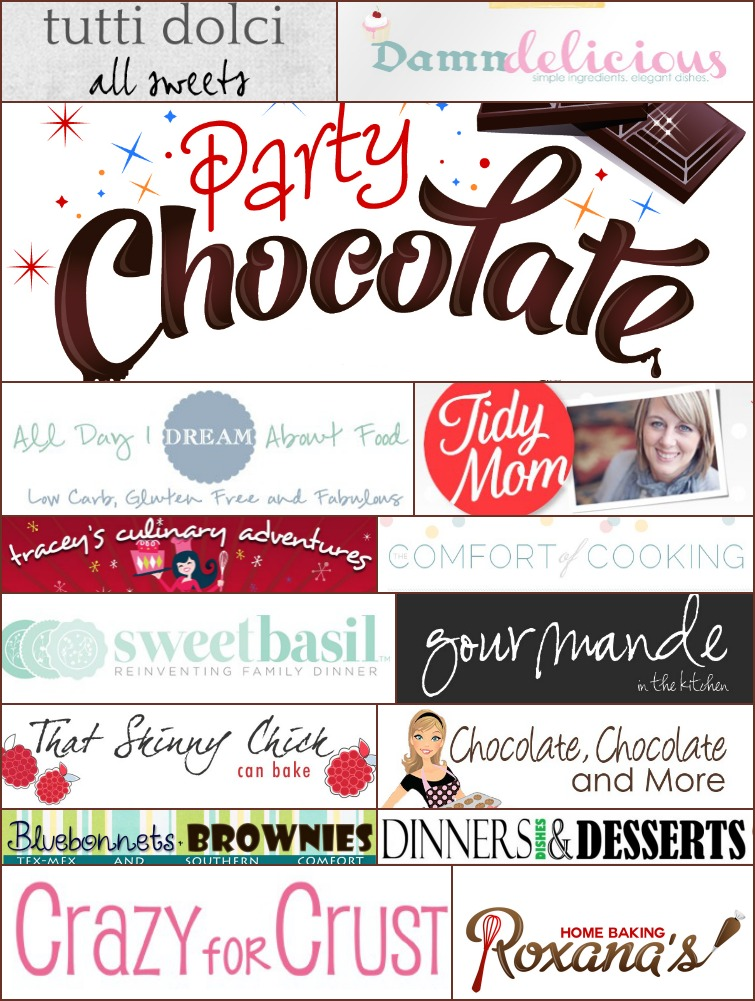 15 Amazing bloggers share their favorite chocolate desserts recipes at Roxanashomebaking.com Bring your favorite and you could win some amazing prizes!