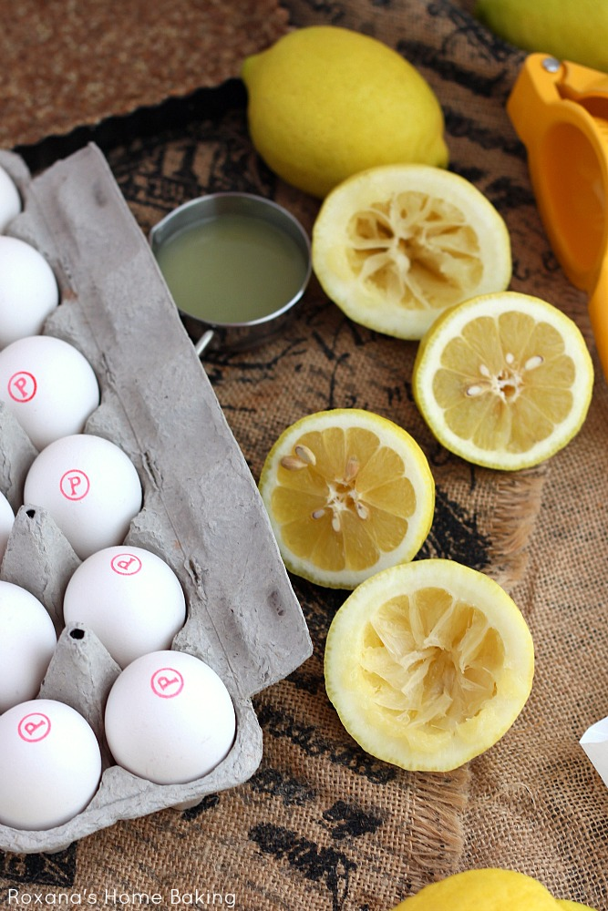 Ingredients for Lemon Curd Tart. Recipe on Roxanashomebaking.com
