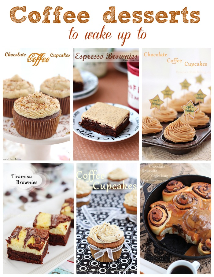 50 Coffee desserts to wake up to featured at Roxanashomebaking.com