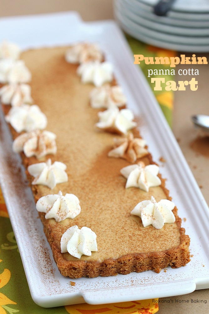 Pumpkin pie panna cotta tart