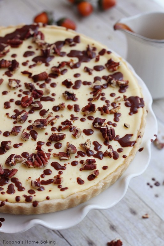 Chocolate pecan cheesecake