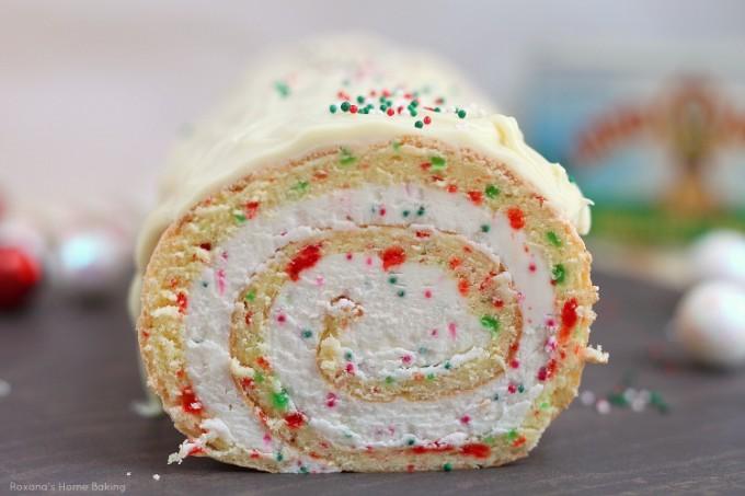 Roxana S Home Baking Christmas Vanilla Roll Cake