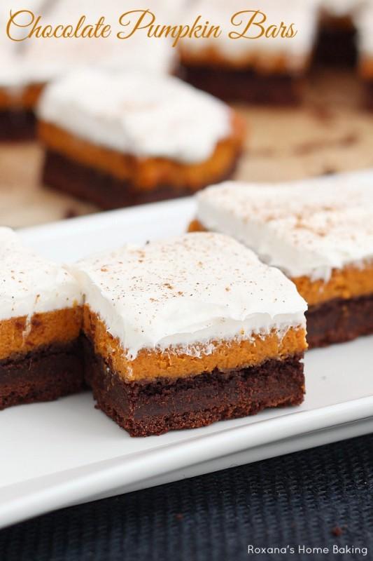 chocolate pumpkin bars recipe 1
