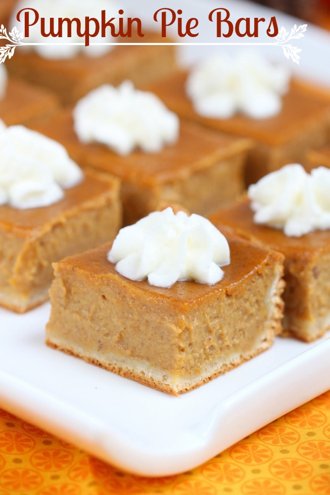 , these pumpkin pie bars are a delicious twist of the classic pie ...