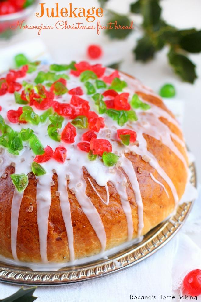 Julekage - Norwegian Christmas fruit bread recipe