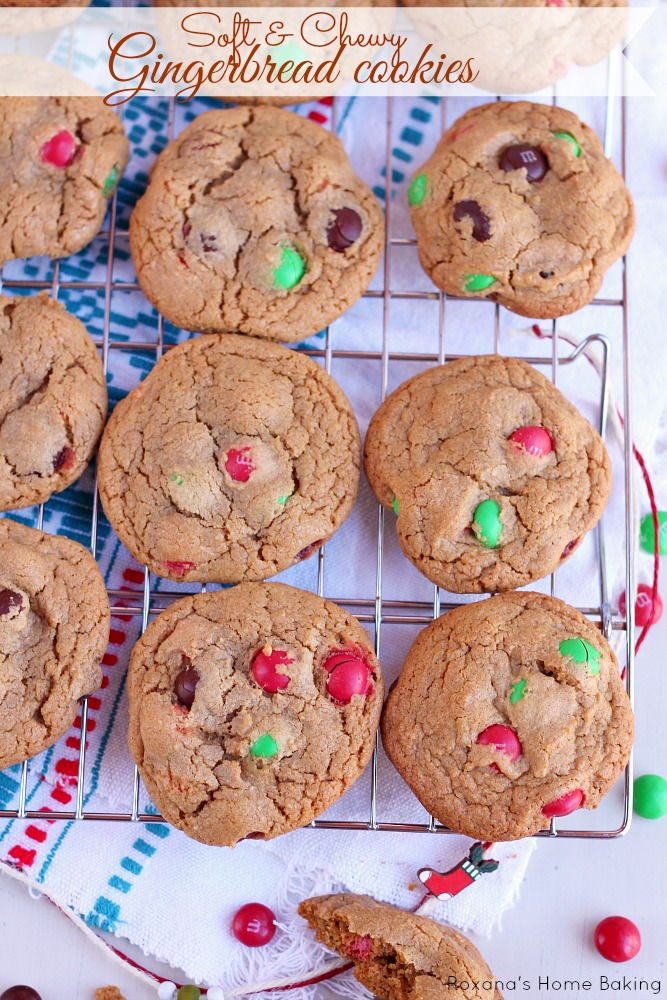Soft and chewy gingerbread cookies from Roxanashomebaking.com