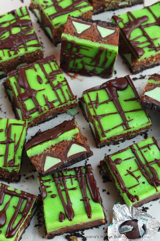 Mint truffle brownie cheesecake bars recipe 1