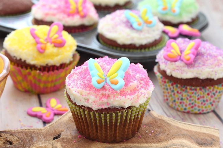 Garden fairy chocolate almond cupcakes recipe for How to make fairy cupcakes