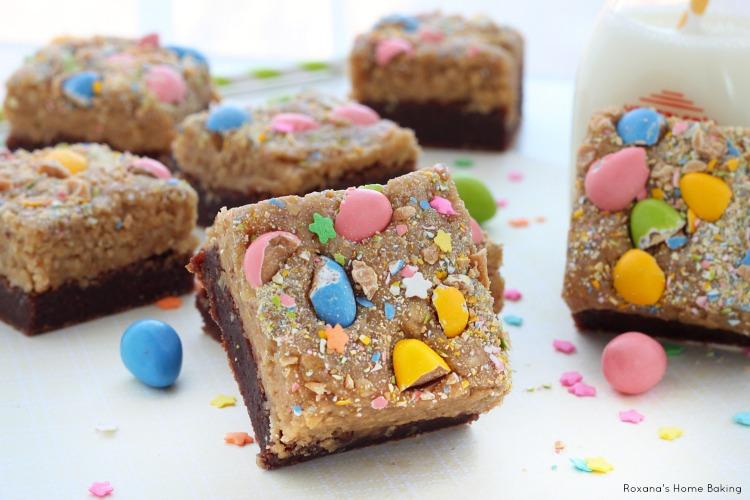Peanut butter cookie dough brownies recipe