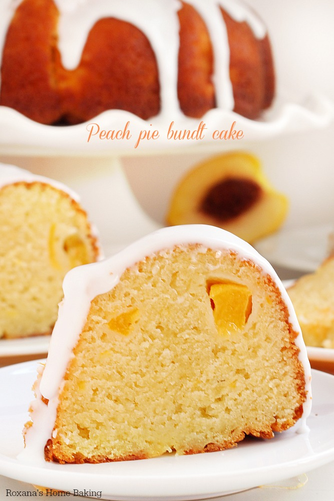 Peach pie cake recipe