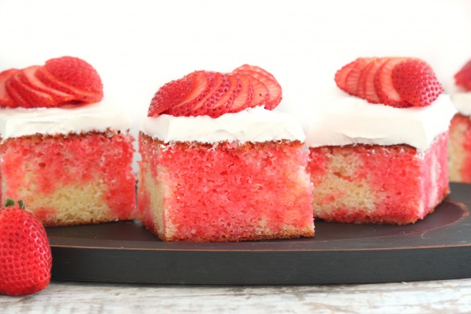 Strawberry Poke Cake Recipe (made From Scratch