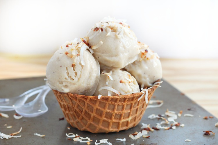 roasted banana coconut ice cream recipe