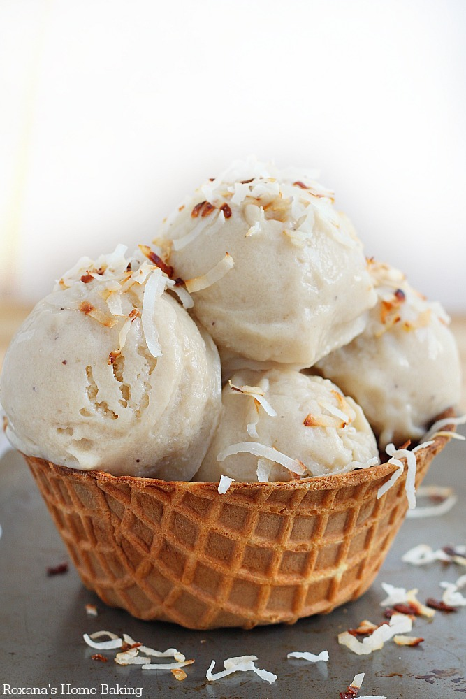 roasted banana coconut ice cream recipe 2