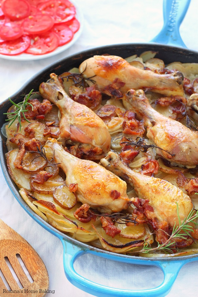 Slow baked potatoes and chicken skillet recipe 1
