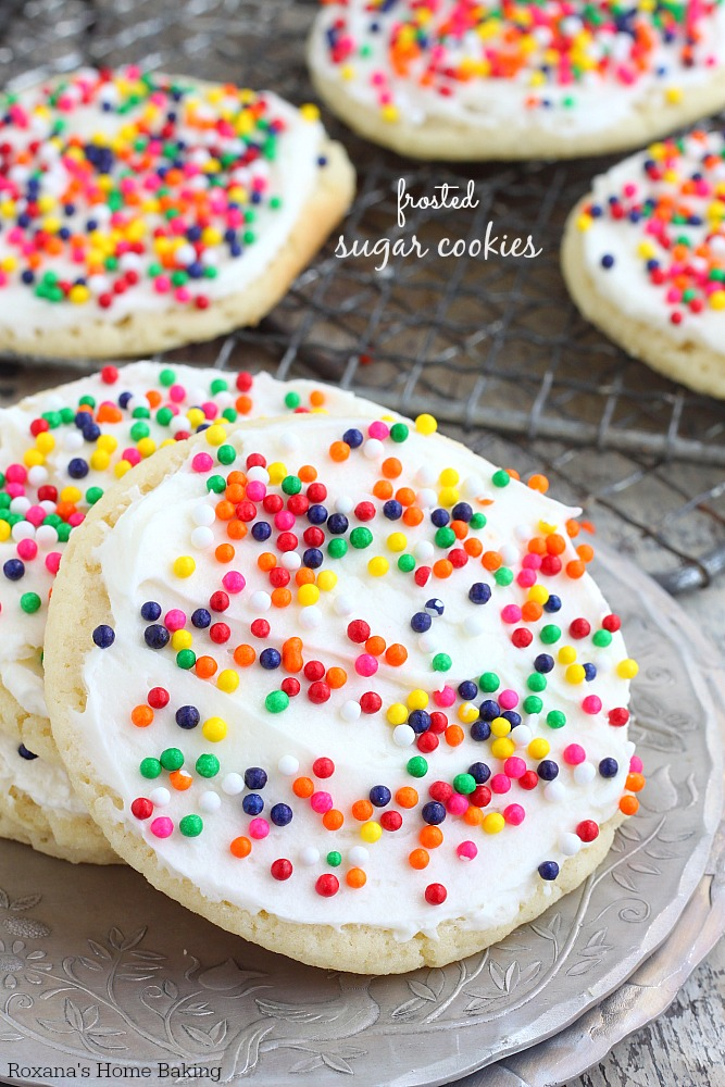 Buttery, melt-in-your-mouth amazingness, these frosted sugar cookies are the made-from-scratch version of the store bought ones. Love at first bite!