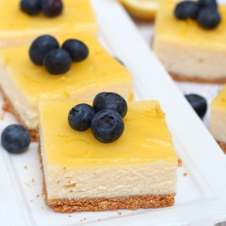 Double lemon cheesecake bars