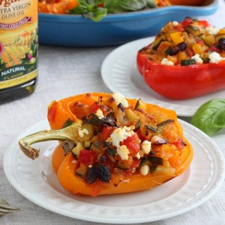 Veggie stuffed bell peppers