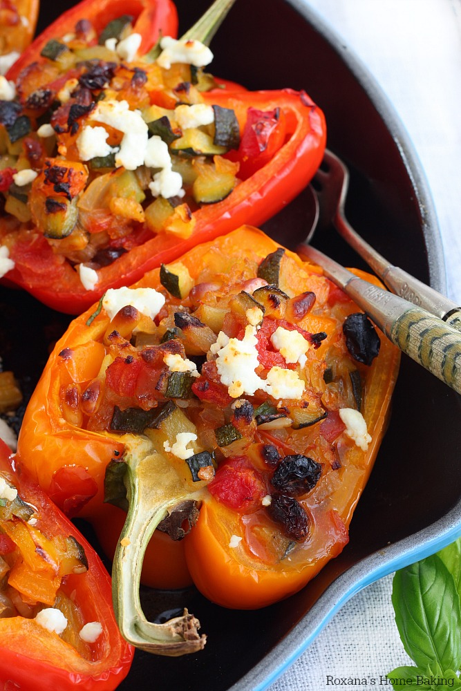 Veggie stuffed bell peppers recipe