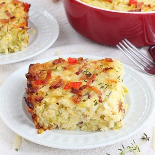 zucchini bacon rice casserole recipe