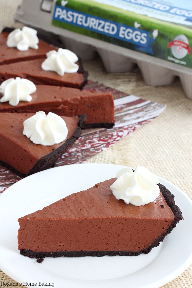 No bake silky chocolate pie