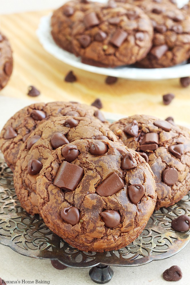 Chocolate Cookies Made With Brownie Mix