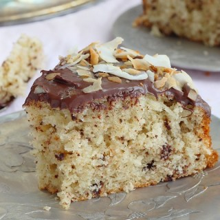 Grated chocolate coconut cake with chocolate ganache recipe