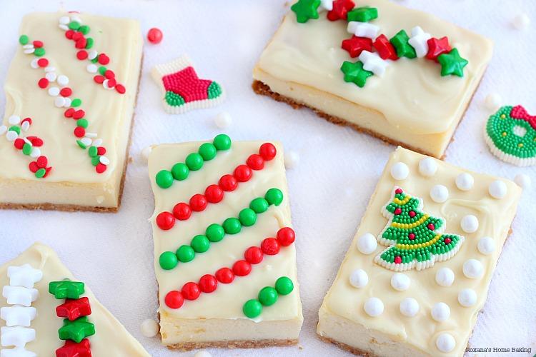 Christmas Cheesecake Ideas.Holiday Cheesecake Presents Recipe