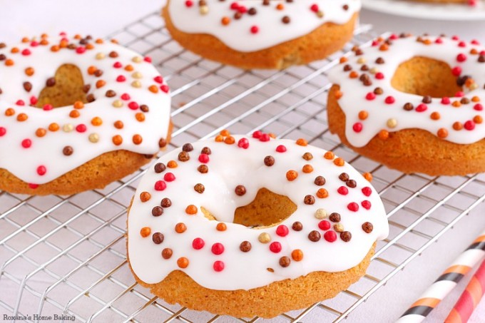 Iced Pumpkin Donuts Recipe
