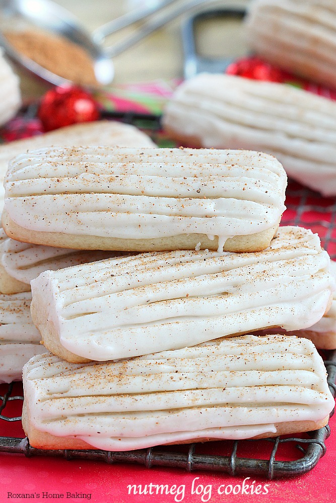 Luscious nutmeg log cookies made with only 5 ingredients! Flavorful and easy to make, these cookies will be a hit on your holiday table!