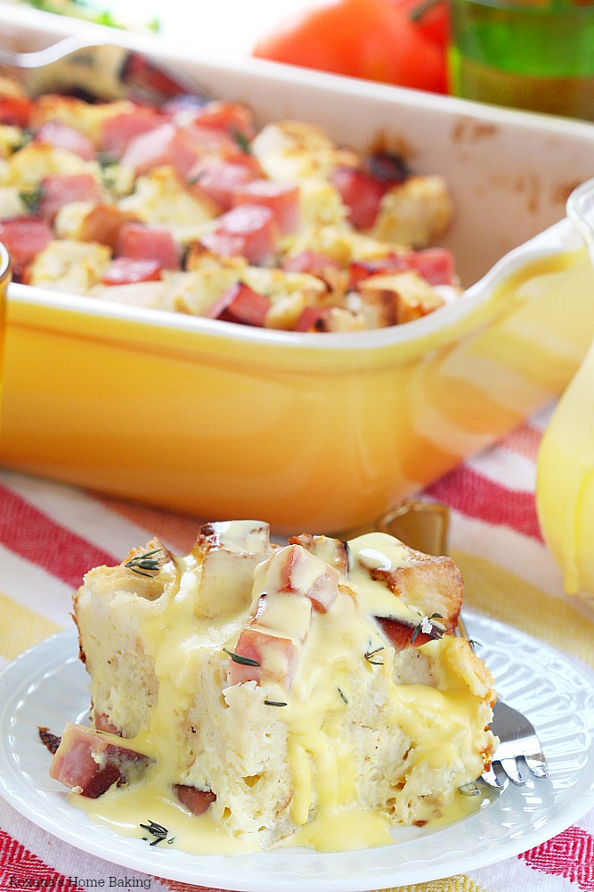 Overnight eggs benedict casserole recipe