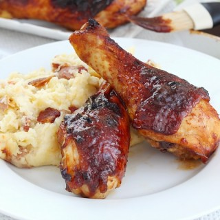 Oven baked glazed chicken drumsticks