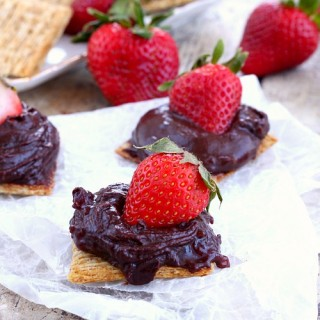 Chocolate and strawberry Triscuit cracker
