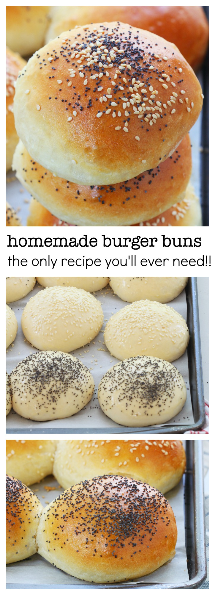 No fail, easy to make 6 ingredients homemade burger buns with a secret ...